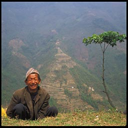 sikkimese old man sitting   14879 bytes